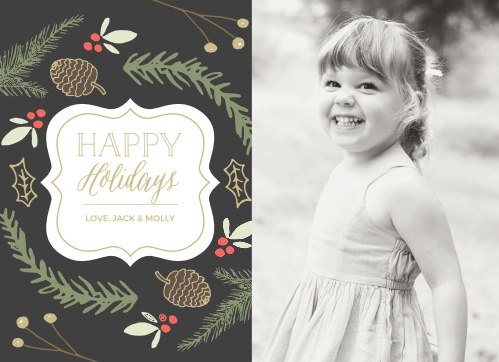 'Tis the season for the Illustrated Foliage Photo Holiday Cards.