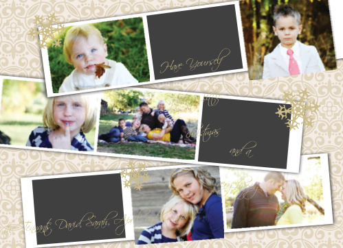Show off your family with the Falling Snowflakes Photo Booth Foil Christmas Cards.