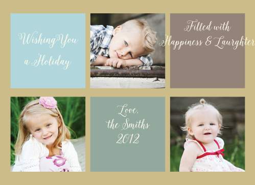 Don't know which pic to pick for your Holiday Cards this year? With the Blocks Wide Foil Holiday Cards, you don't have to choose!