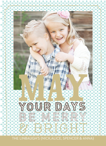 Have fun this holiday season with the Bright and Merry Foil Holiday Cards.