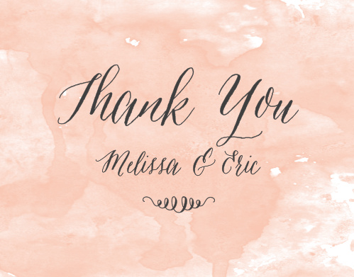 Show your gratitude with the soft elegance of the Watercolor Script Thank You Cards from the Crafty Pie Collection at Basic Invite.