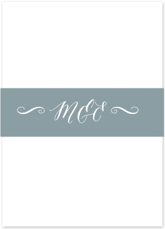 Add an extra touch of elegance to your wedding stationery with the Watercolor Script Belly Bands from the Crafty Pie Collection at Basic Invite.