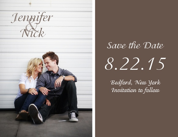 The Happy Couple is a breath taking save the date card.