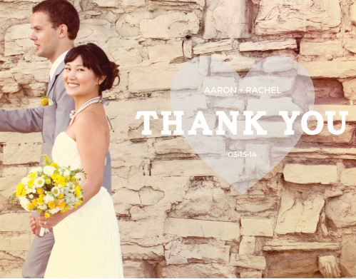 The Heart-In-Hand Photo Thank You Cards convey your gratitude in a cute, modern style.