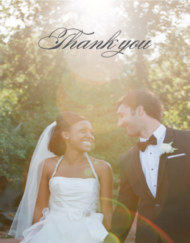 "Say ""Merci"" with the elegance of the Cheri Photo Thank You Cards"