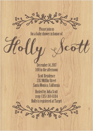 Adorable Branch Baby Shower Invitations