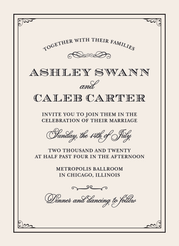 victorian wedding invitations match your color style free