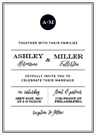 Modern Elegant Wedding Invitations