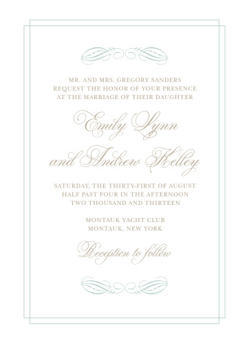 Dazzle your guests with the Emily Swash Wedding Invitations from the Crafty Pie Collection at Basic Invite.
