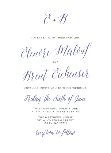 The Rustic Script Wedding Invitations from the Crafty Pie Collection at Basic Invite are an elegant way to invite friends and family to your special day.