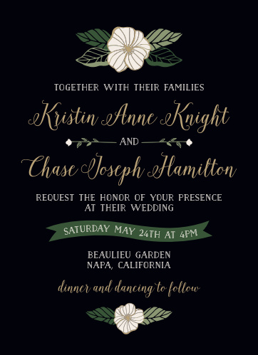 Invite friends and family to your celebration with the sweet charm of the Garden Floral Wedding Invitations from the Crafty Pie Collection at Basic Invite.