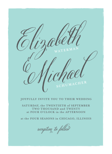 Romance abounds with the Calligraphy Script Wedding Invitations from the Crafty Pie Collection at Basic Invite.