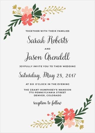 Garden Party Wedding Invitations