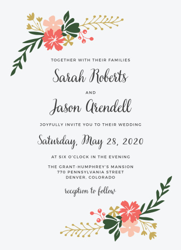 Wedding invitations match your color style free garden party wedding invitations stopboris Choice Image