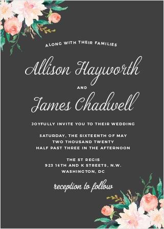 Blossoming Love Wedding Invitations