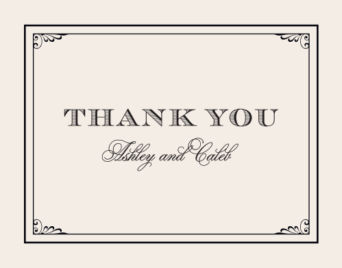 Remember those who helped you celebrate with the Grand Victorian Thank You Cards from the Crafty Pie Collection at Basic Invite.