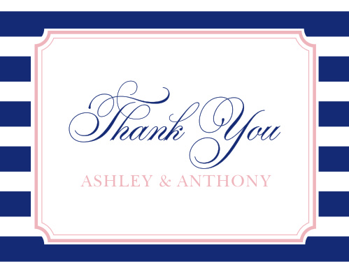 The Preppy Stripe Thank You Cards are a cheerful and elegant way to thank those who helped you celebrate your union.