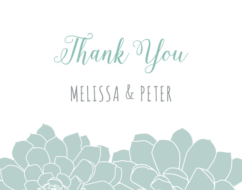 The Sweet Succulents Thank You Cards are a modern and whimsical way to express your gratitude.