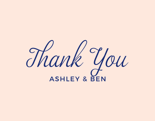 Remember those who made your wedding day special with the Diamond Monogram Thank You Cards.