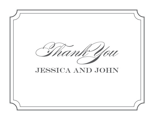 Acknowledge the generosity of friends and family with the Elegant Script Thank You Cards from the Crafty Pie Collection at Basic Invite.