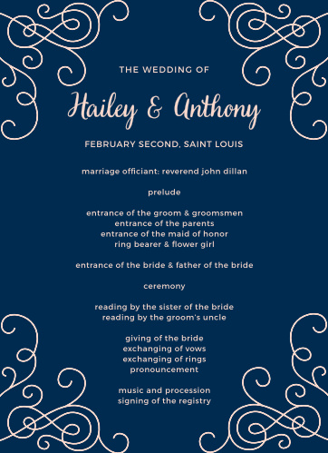 Set the tone for your ceremony with the Modern Love Wedding Programs.