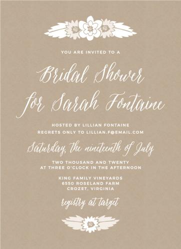 Bridal shower invitations wedding shower invitations basicinvite rustic floral bridal shower invitations filmwisefo
