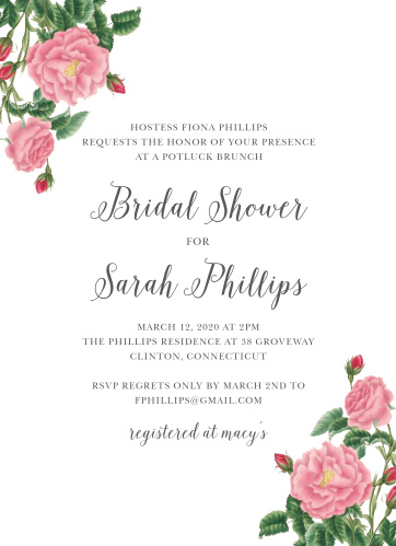 Budding Blooms Bridal Shower Invitations