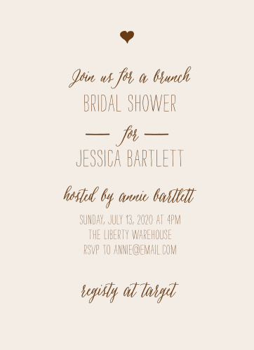 Invite friends and family to celebrate with the Drawn Together Bridal Shower Invitations.