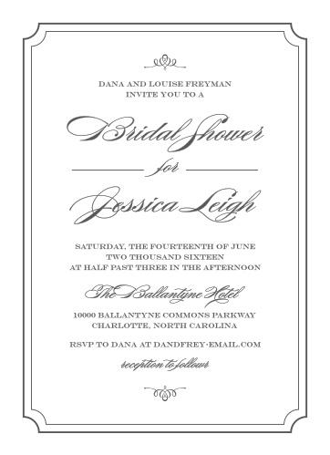 Bridal shower invitations wedding shower invitations basicinvite elegant script bridal shower invitations filmwisefo