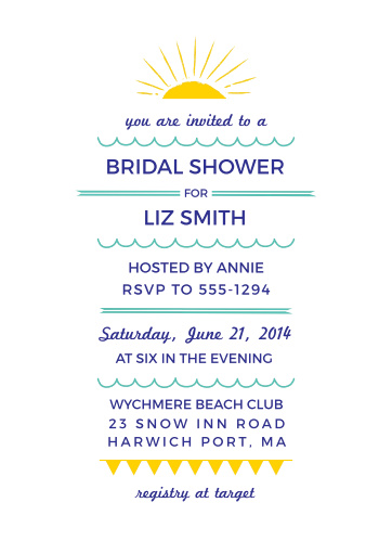 Hawaiian Bridal Shower Invitations Match Your Color Style Free