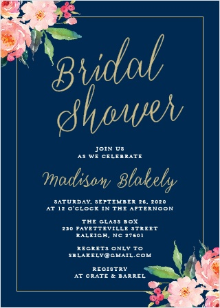 Play with the colors and fonts of the Standing Ovation Bridal Shower Invitations to create your truly custom Invites.