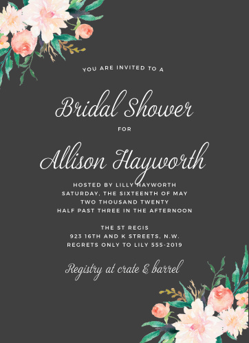 Bridal shower invitations wedding shower invitations basicinvite blossoming love bridal shower invitations filmwisefo