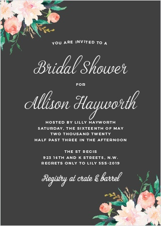 Celebrate with the Blossoming Love Bridal Shower Invitations from the Crafty Pie Collection at Basic Invite.