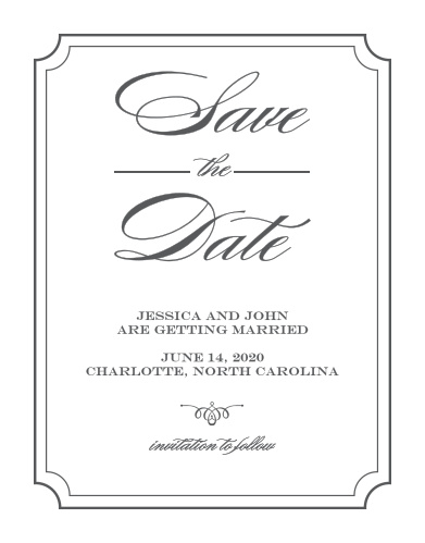 Reserve your spot in guests' calendars with the Elegant Script Save-the-Date Cards from the Crafty Pie Collection at Basic Invite.