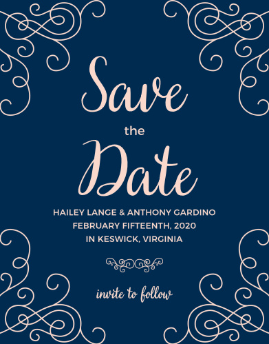 Announce your wedding with the romance of the Modern Love Save-the-Date Cards from the Crafty Pie Collection at Basic Invite.