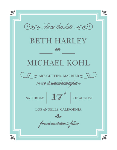 Delight guests with the Parisian Chic Save-the-Date Cards from the Crafty Pie Collection at Basic Invite.