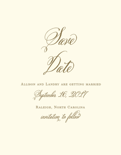 Announce to friends and family you're getting married with the timeless elegance of the Romantic Vintage Save-the-Date Cards.