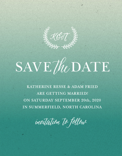 Announce your upcoming wedding with the Rustic Ombre Save-the-Date Cards from the Crafty Pie Collection at Basic Invite