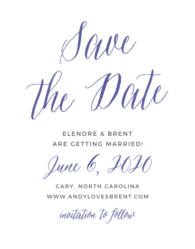 The Rustic Script Save-the-Date Cards are part of the Crafty Pie collection by Basic Invite. Now you can take your favorite save the date design and instantly personalize it online with real-time previews.