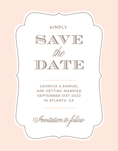 The Vintage Frame Save-the-Date Cards announce your union with classic style.