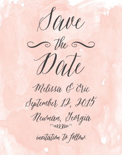 The Watercolor Script Save-the-Date Cards are part of the Crafty Pie collection by Basic Invite. Now you can take your favorite save the date design and instantly personalize it online with real-time previews.