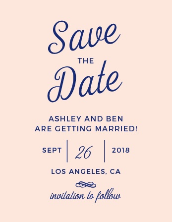 Reserve your place in the Calendars of friends and family with the Diamond Monogram Save-the-Date Magnets from the Crafty Pie Collection at Basic Invite.
