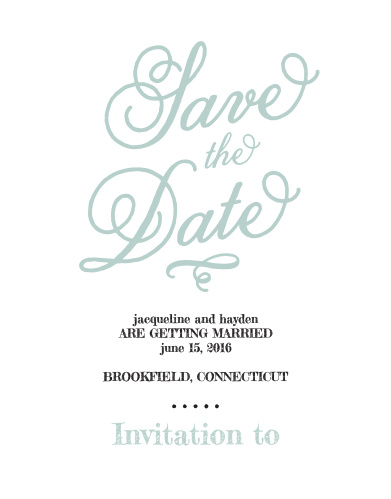whimsical script save the date cards by basic invite