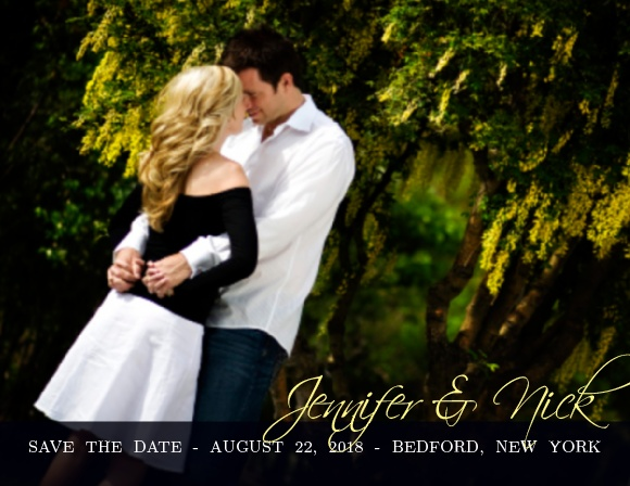 The Forever Modern save the date cards are a great way to let your friends and family see what a cute couple you make.