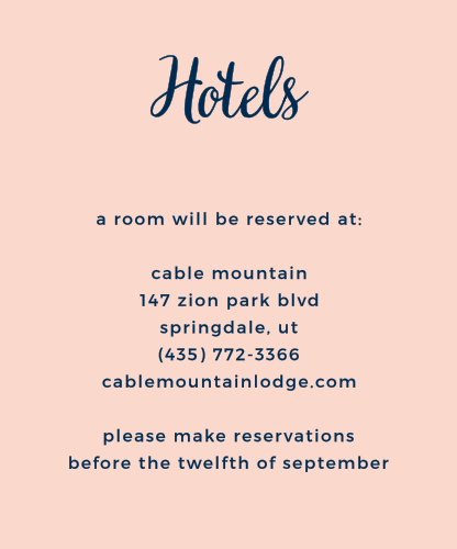 The simple design of the Modern Love Accommodation Cards makes it easy to coordinate them to your unique wedding theme.