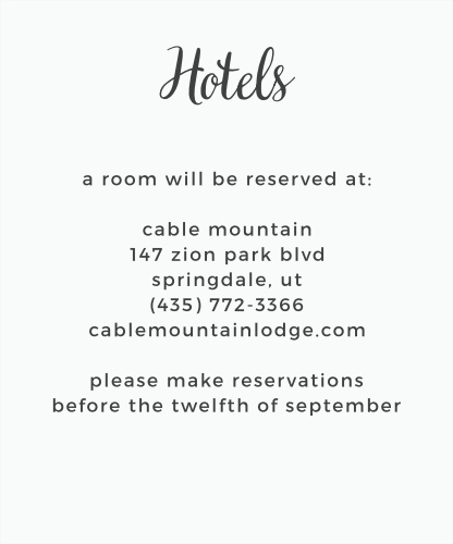 Let guests know when and where to make travel reservations with the Garden Party Accommodation Cards.