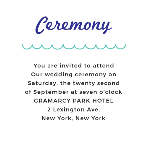 The Modern Beach Ceremony Cards can be customized to meet a variety of different needs.