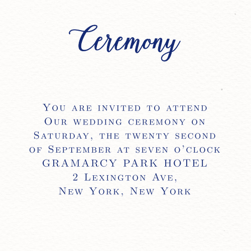 Invite guests to your wedding ceremony with the Watercolor Anemone Ceremony Cards from the Crafty Pie Collection at Basic Invite.