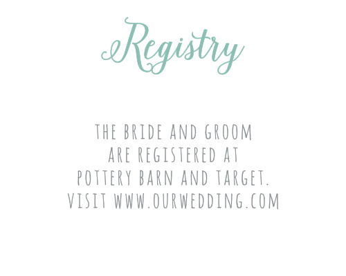 If you have made a registry for your wedding, then you will want to add the Sweet Succulents Registry Cards to your wedding stationery.