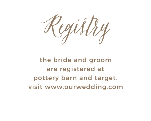Customizable Wedding Registry Cards By Basic Invite – Gift Registry Cards in Wedding Invitations
